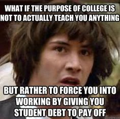 keanu says college is to teach you how to pay