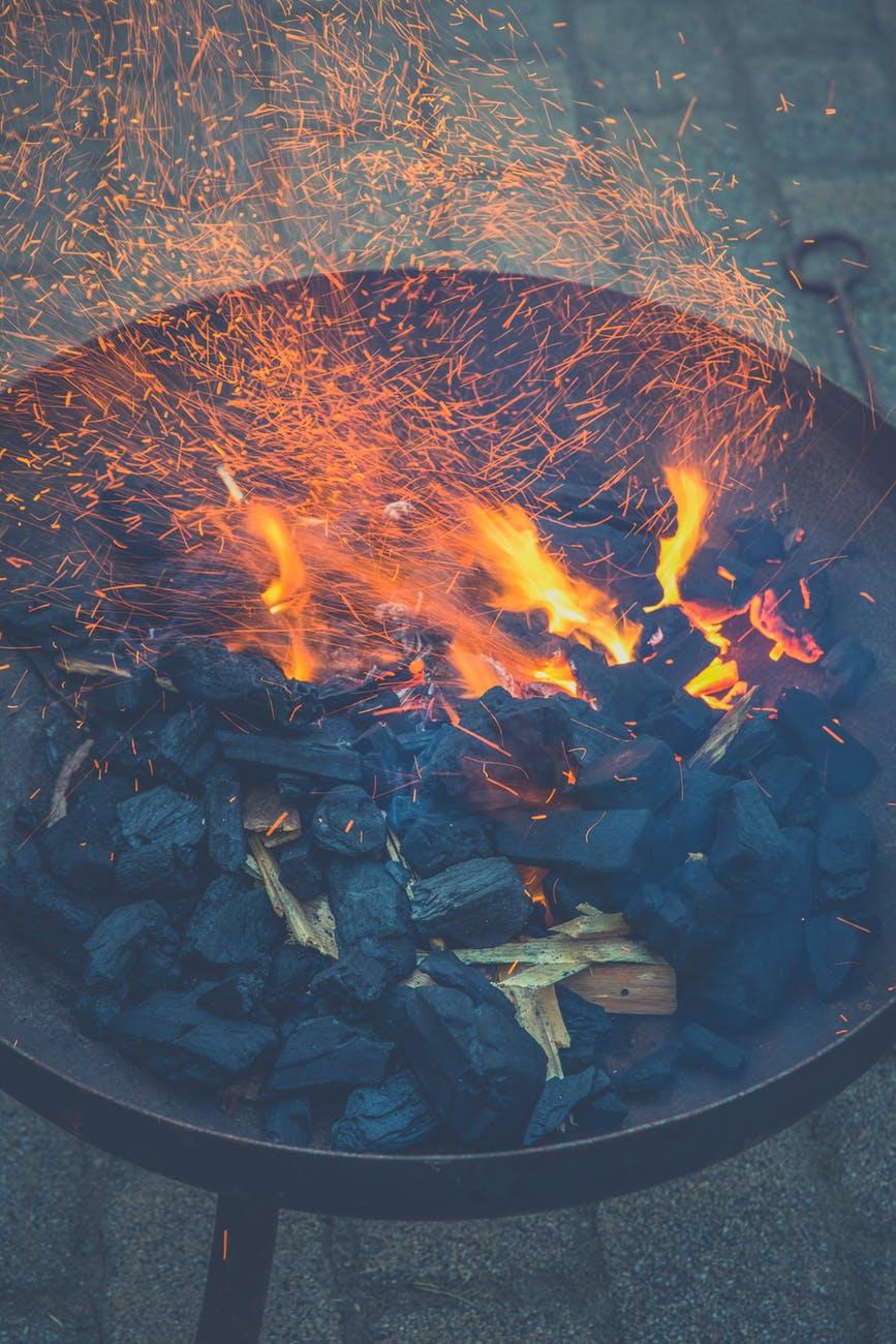 fire charcoal fire bowl wood charcoal